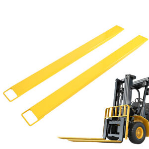 72 Forklift Pallet Fork Extensions 2 Pack High Tensile Heavy Duty Slide Clamp