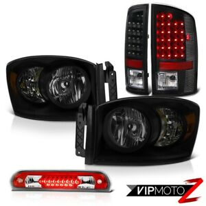 07 08 Dodge Ram 1500 St Headlamps Roof Cab Lamp Raven Black Taillamps Led Smd