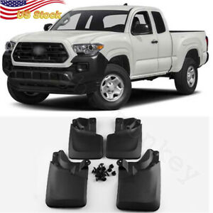 4 X Car Splash Guards Mud Flaps Mudguards Fender Fit For 2005 2015 Toyota Tacoma
