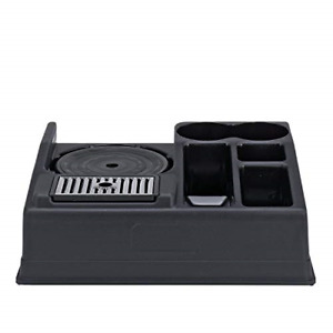 Service Ideas Apr15bl Airpot Stand And Condiment Station Holds 1 Airpot 5 Black