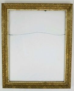 Antique Carved Wood Gold Gilt Gesso Picture Frame Painting Wedding 26 X 32
