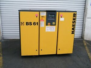 1999 Kaeser Bs61 50 Hp Rotary Screw Air Compressor Ingersoll Rand Quincy Sullair