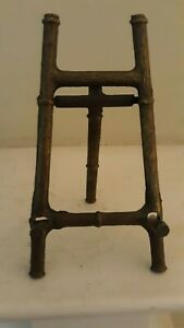 Antique 5 3 4 Brass Easel Picture Plate Art Stand Display Holder Italy
