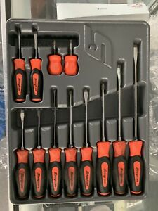 Sgdx120br Red Snap on 12pcs Soft Grip Combination Screwdriver Set