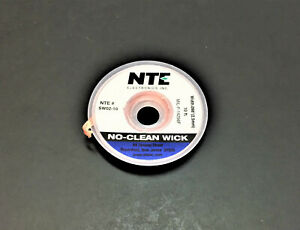 Nte Sw02 10 4 No Clean Solder Wick 10 2 5mm 098 Blue Made In The Usa