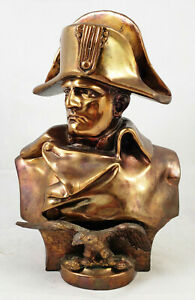 Antique 20th C French Copper Bronzed Metal Bust Of Napoleon After R Colombo