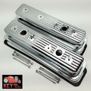 Chrome Sbc Tall Center Bolt Valve Covers Gaskets Bolts 87 98 Tbi Vortec 305 350
