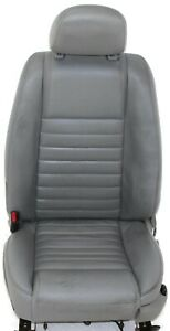 2011 2014 Ford Mustang Driver Left Side Front Seat Leather Gray