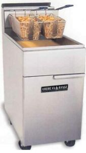 American Range Af 75 75lb Gas Commercial Deep Fat Fryer Heavy Duty Stainless