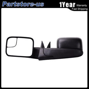 Left Right For 94 01 Dodge Ram 1500 94 02 2500 3500 Tow Flip Up Manual Mirrors