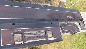 1968 69 Plymouth Gtx Dash Trim Plates Woodgrain
