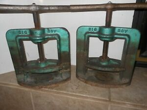 Handler Big Boy Flask Press Model 38b With Two Flask Dental Lab Lot Of 2