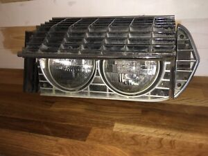 1967 Ford Thunderbird Driver Headlight W Bezel And Outer Side Trim Grille End
