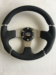 Car Mugen Racing Steering Wheel Include Horn Button 320mm Black 5