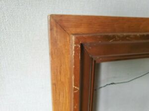 Frame Deep Double Shadow Box Pine Patina Vtg Antique Picture Mirror