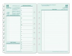 Franklincovey Brown Trout Organizer Refill 5 1 2 X 8 1 2 Classic Daily 2 P