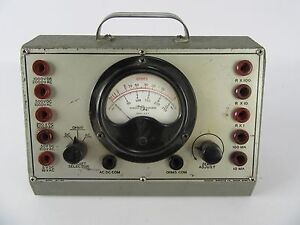 Vintage Robson Burgess Co Model Mt 110 Ohms Tester