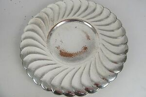Vintage Silver Plated Charger Plate Horimercraft Epc 4454 On Copper