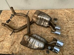 2003 2006 Mercedes E55 W211 Amg Exhaust Muffler Mufflers Set Assembly Oem