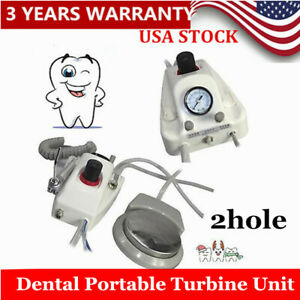 Portable Unit Compressor Dental Turbine Unit 2hole water Bottle Us Shipping
