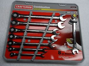 Craftsman Mm Combination Ratcheting Wrench Set Made In Usa 8 Pcs Part 42451