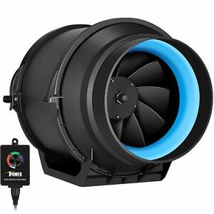 Ipower 6 Inch 350 Cfm Inline Duct Fan Variable Speed Controller Hvac Blower Kit