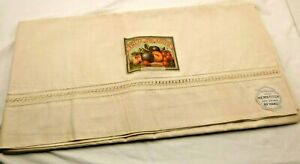 Antique 1916 Fruit Of The Loom Bed Sheet 81 X 90 Never Used Original Tags Rare