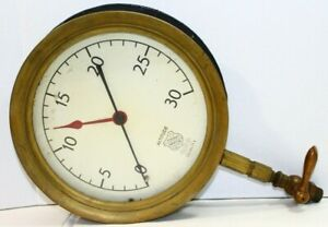 10 Vintage Brass Pressure Altitude Gauge By Ashcroft Steampunk Antique