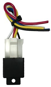 Beuler 40 60 Amp Waterproof 5 pin Relay Panel With 6 Socket Wire Harness