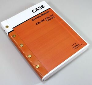Case 430ck 530ck Backhoe Tractor Only Service Repair Manual Shop Book Overhaul