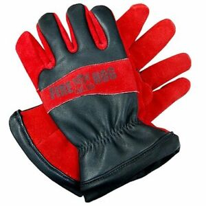 Veridian Fire Hog Cowhide Leather Firefighter Protective Gloves Nomex Gauntlet
