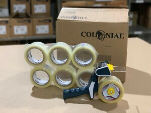 Hm18 2 X 110yd Colonial Shipping Packaging Tape 30 Rolls Dispenser Usa