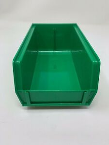 24 Pack Uline Plastic Stackable Bins 7 1 2 X 4 X 3 Green S 12414g