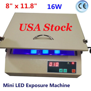 Usa 8 X 11 8 16w Mini Led Exposure Machine Silk Screen Printing Equipment