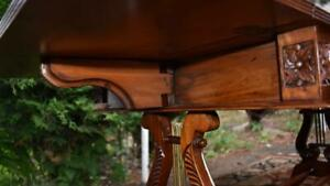 1920s English Regency Mahogany Drop Leaf Coffee Table Leather Top