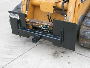 Skid Steer Loader Quick Attach Plate Receiver Hitch 2 Bobcat Case John Deere