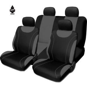 For Ford New Black And Grey Cloth Car Truck Seat Covers With Gift Full Set