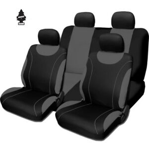For Toyota New Black And Grey Cloth Car Truck Seat Covers With Gift Full Set