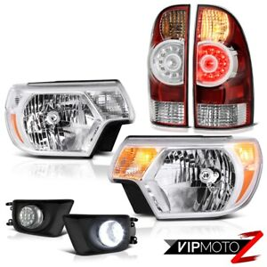 12 15 Toyota Tacoma X Runner Chrome Fog Lamps Headlights Bloody Red Tail Led Drl