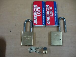 New Lot Of 2 American Lock 3900 Series Padlocks A3901ssswo with Core