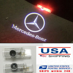 2x For Mercedes Benz Gl Ml R Class Led Door Step Courtesy Laser Projector Lights