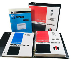 International 606 2606 Tractor Service Repair Manual Parts Catalog Shop Set