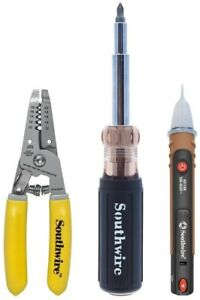 Southwire 3 piece Electricians Tool Kit Storage Screwdriver Stainless Steel