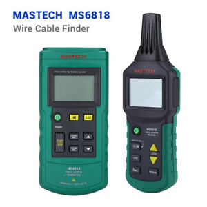 Ms6818 Wire Cable Tracker Finder Line Metal Pipe 12v 400v Ac dc Tester Detector