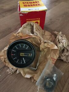 Stewart Warner Vintage 9000 Rpm 3 1 8 Tachometer Stage Iii 3 New Old Stock