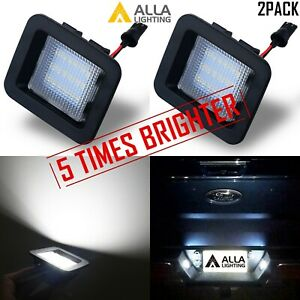 5 Time White Led License Plate Tag Lamp Assembly Replacement For Raptor Trucks