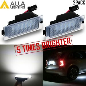 5 Time White Led License Plate Tag Lamp Assembly Replacement For Escape Suvs 2x
