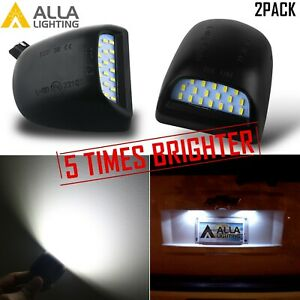 5 Time White Led License Plate Tag Lamp Assembly Replacement Silverado Trucks 2x