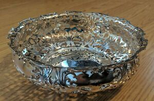 Antique Forbes Silver Co Pierced Fruit Bowl Victorian Silverplate 19th Century