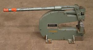 Whitney No 92 10 Ton Bench Mount Punch For Sheetmetal Die Press Roper Stamping